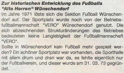 Bild: Wünschendorf Erzgebirge Fußball