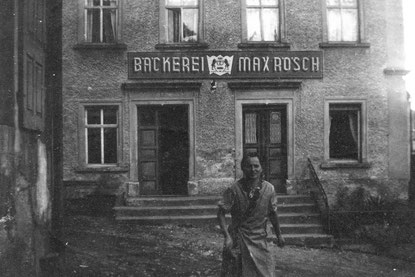 Bild: Wünschendorf Erzgebirge Teichler Bäckerei Max Rösch 1935