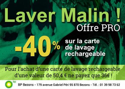 BP Bezons - Offre Pro - le lavage haute performance prix promos