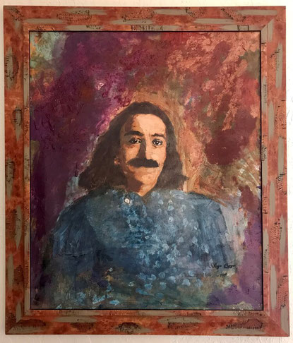AVATAR MEHER BABA painted by Lyn Ott acquired by Meher Mount in 2007-Photo-Ellen Kwiatkowski