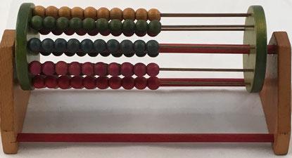 Ábaco europeo con forma cilíndrica, 10 filas de 10 bolas cada una, 21x10 cm