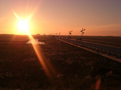 Sonnenuntergang an der Spazierbrücke in St.Peter-Ording