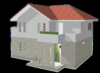 JavaScriptを組み込んだ3DCGの家