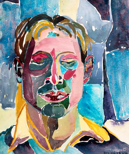 Bettina Heinen-Ayech (1937-2020): Portrait von Amud Uwe Millies, 1955