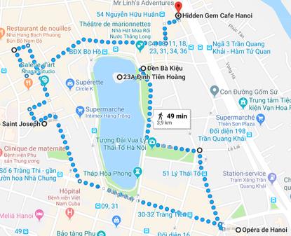 Itinéraire du tour