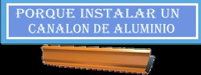Canalon Aluminio Valencia