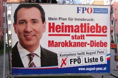 FPÖ valgplakat i Wien