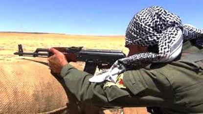 Kurdisk fighter i Nordirak