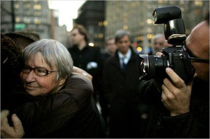 Lynne Stewart efter domsafsigelsen i New York