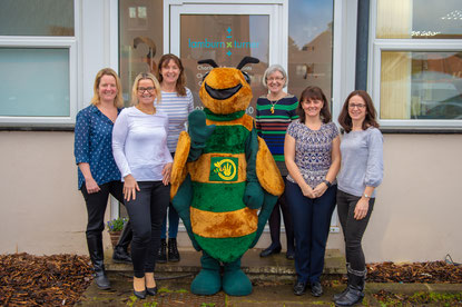 Lamburn & Turner Wheathampstead team with Billy The Bee, Buy, it, locally, buy it locally, shop local, campaign, giant bee, lamburn & turner, accountants