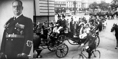 """Als SS - Angehöriger und mit einer Kalesche zur """"Casa Rosada""""."""