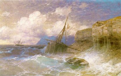 Айвазовский. Этюд воздуха над морем, 1835