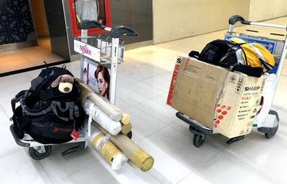 Wir reisen mit leichtem Gepäck