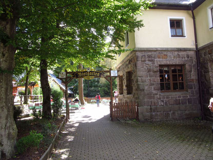Der Biergarten im September 2015