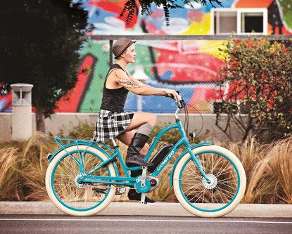 Electra e-Bikes im e-motion e-Bike Premium Shop an die individuellen Vorlieben anpassen