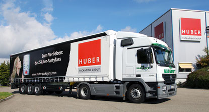 HUBER Packaging LKW beverage Bierfass