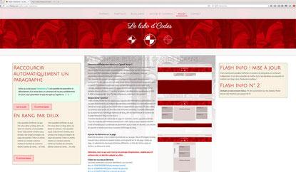 Aspect de la page après la deuxième couche de code