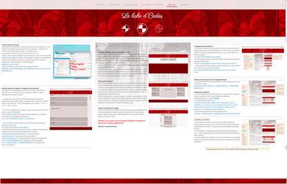 Illustration d'un projet de distribution de l'article vertical dans la largeur