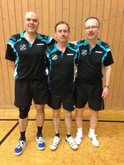 Kreispokalsieger 2014: Thomas Riehle, Paul Fechner und Ralf Braun.