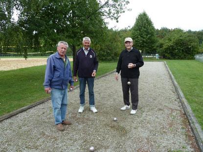 v. l.: Herbert Fischer, Hartmann Räther, Hans Dosch (Foto: Hussmanns)