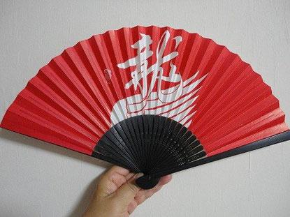 2012/8大関鶴竜化粧まわしの扇子