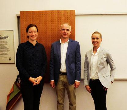 Maria Rammelmeier, Prof. Rudi Aunkofer, Isabelle Strohofer (v.l.), © Rainer Seitz, 2018