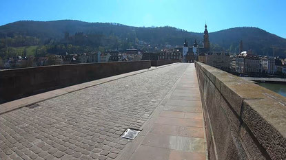 Heidelberg, Alte Brücke am 25. März 2020