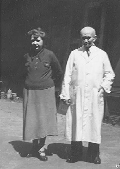 Reinhold Burger mit Ehefrau Charlotte