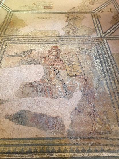 Das Orpheus-Mosaik in Rottweil. Bild: Rebecca Motzer.