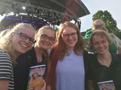 Stephanie Jarvers, Maria Korten, Anna Nick und Ursula Hartmann bei Allsång på Skansen