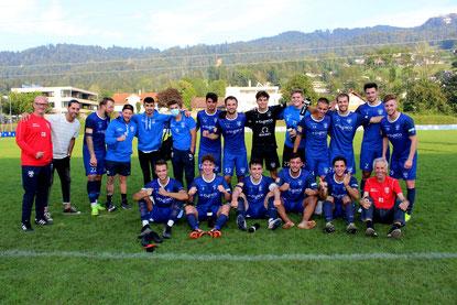 Jubel bei unserer Mannschaft nach dem 3:0 Heimsieg gegen den VfB Bezau
