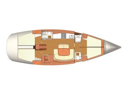 Raumaufteilung Dufour 455