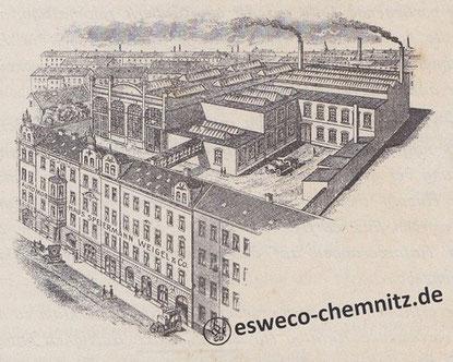 Das Fabrikgebäude um 1912