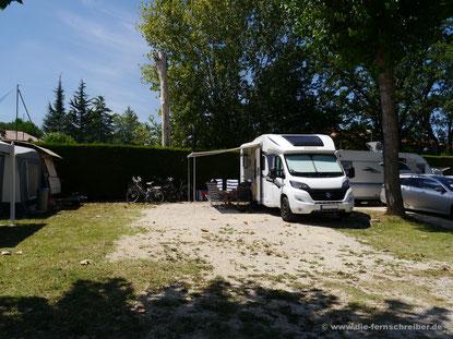 """Stellplatz Nr. 159 auf """"Camping Tiglio"""" - riesig!!"""