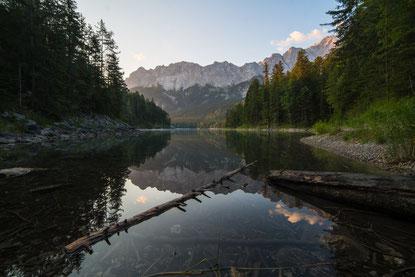Fotospot Eibsee Zugspitze Garmisch