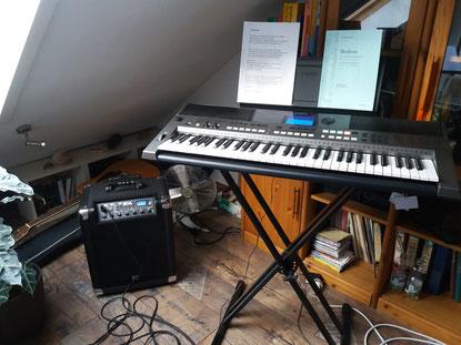 Keyboard Yamaha PSR-E443 im Gesangsunterricht von Diane Eisenhawer
