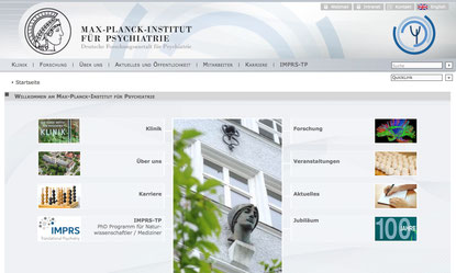 Screenshot: Website des Instituts