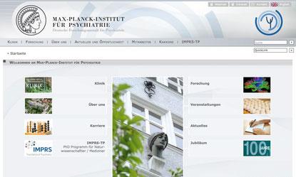 Screenshot: Website des Instituts