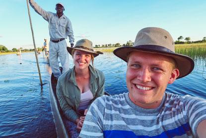 Mokorofahrt im Okavango Delta