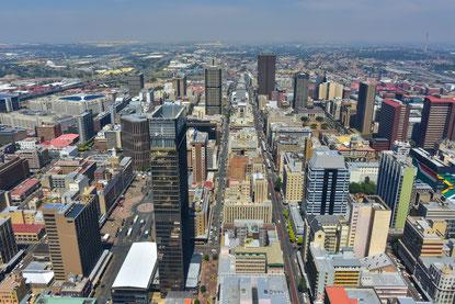 Blick vom Top of Africa auf Johanneburg