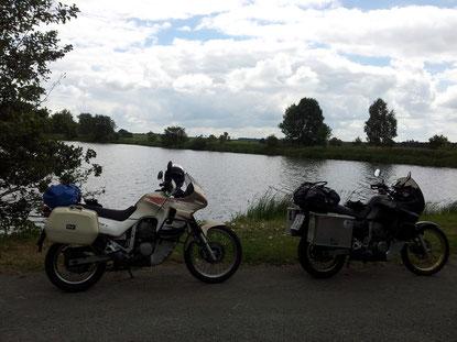 Auch Seen gab es auf der Strecke zu Hauf