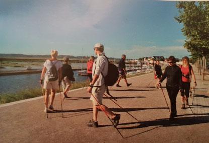 Initiation à la marche nordique en Baie de Somme au Crotoy