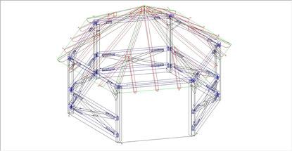 Pavillon 3D-Ansicht