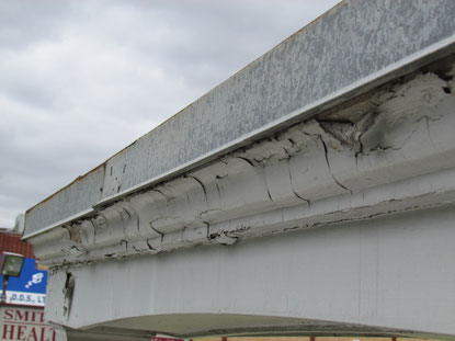 This trim is in need of some serious scrapping and painting