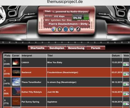 Freudentränen musicproject seelenrot angela lars charts platz 2
