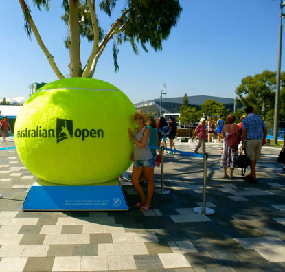 Außengelände der Australian Open