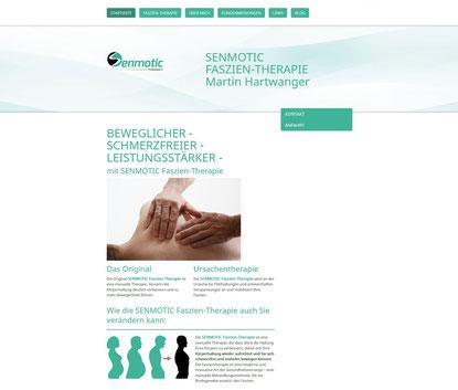 Webseite SENMOTIC Faszien-Therapie