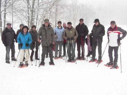 Schneeschuhwanderung am Heringseck