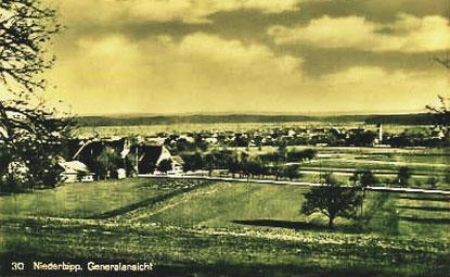 Niederbipp – Generalsansicht – 1940 – Foto Archiv © Pedro Meier Multimedia Artist / ProLitteris - Gerhard Meier Solothurn Oberaargau Kanton Bern Schweizerisches Literaturarchiv  Literatur, Olten, Schweiz