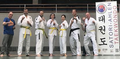 Freuen sich auf Unterstützung: Sportler der Taekwondo-Gruppe 27+